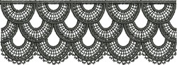 Embroidered Scallop Lace (Not FSL) embroidery design