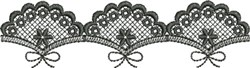 Embroidered Fan Lace (Not FSL) embroidery design