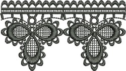 Embroidered Trefoil Lace (Not FSL) embroidery design