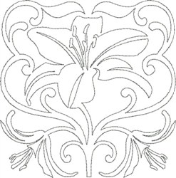 Pretty Lily Design embroidery design