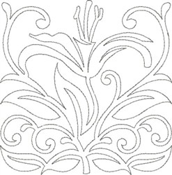 Lily Design embroidery design