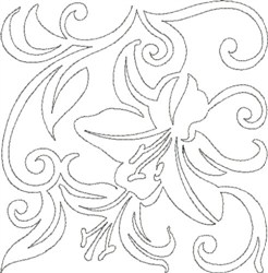 Lily Quilting Outline embroidery design