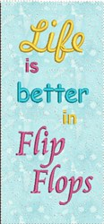 ITH Life is Better Quilt Block embroidery design