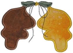 Autumn Leaves Applique embroidery design