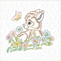 Little Fox Quilt Block 2 embroidery design
