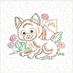 Little Fox Quilt Block 4 embroidery design