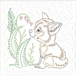 Little Fox Quilt Block 6 embroidery design