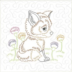 Little Fox Quilt Block 8 embroidery design
