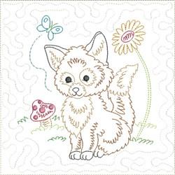 Little Fox Quilt Block 9 embroidery design