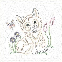 Little Fox Quilt Block 10 embroidery design
