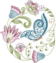 Large Hoop Jacobean embroidery design