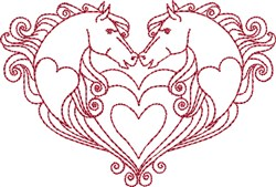 Horse Sweethearts embroidery design