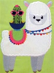 Llama Love 01 embroidery design
