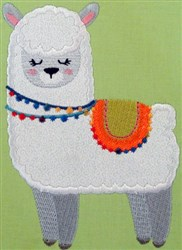 Llama Love 09 embroidery design