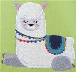 Llama Love 11 embroidery design