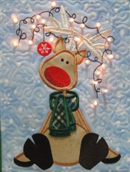 Lighted Reindeer Mini Quilt embroidery design