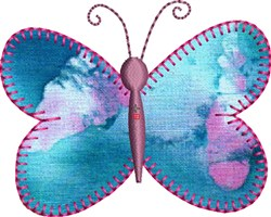 Small Butterfly Precut Applique embroidery design