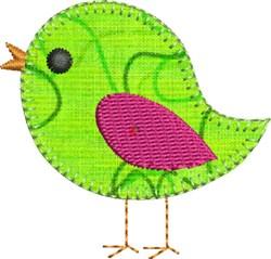 Birdie Precut Applique embroidery design