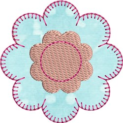 Flower Precut Applique embroidery design
