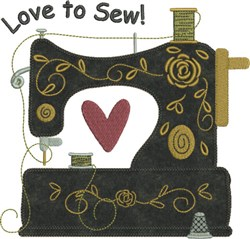 Sewing Machine Applique embroidery design