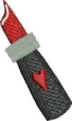 Lipstick embroidery design