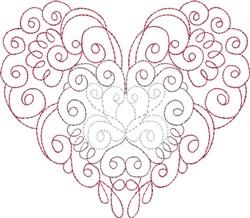 Multi-Color Swirly Heart embroidery design