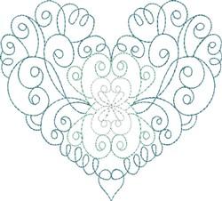 Multi-Color Swirl Heart embroidery design