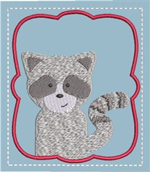 Memory Game Raccoon embroidery design