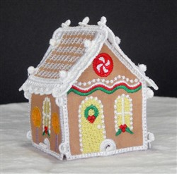 Miniature Gingerbread House 1 embroidery design