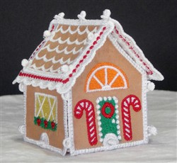 Miniature Gingerbread House 2 embroidery design