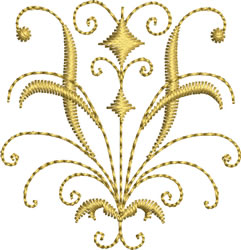 Miniature Gold Crest embroidery design