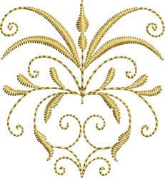 Miniature Golden Crest embroidery design
