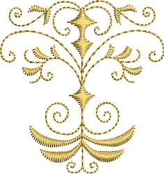 Miniature Golden Crest embroidery design