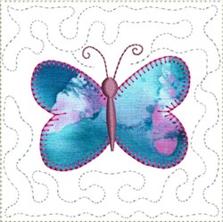 ITH Butterfly Applique Mini Quilt Block embroidery design