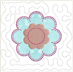 ITH Flower Mini Quilt Block embroidery design