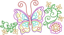 Backstitch Butterfly embroidery design