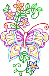 Multi-Color Butterfly embroidery design
