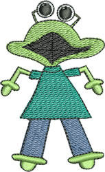 Froggy Monster embroidery design