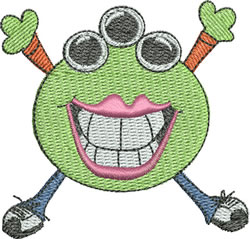 Smiley Monster embroidery design