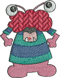Red-faced Monster embroidery design