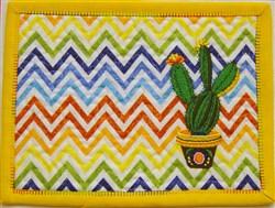 ITH Margarita Mug Rug 3 embroidery design