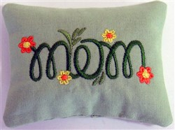 Mom 2 Pincushion or Sachet embroidery design