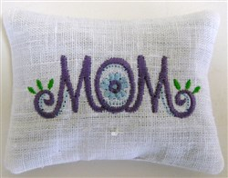 Mom 3 Pincushion or Sachet embroidery design