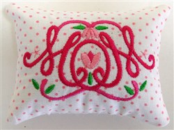 Mom 4 Pincushion or Sachet embroidery design