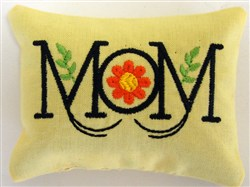 Mom 5 Pincushion or Sachet embroidery design