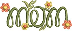 Mom Monogram 2 embroidery design