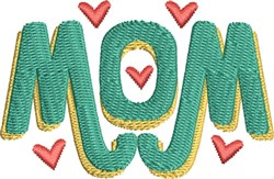 Mom Monogram 6 embroidery design