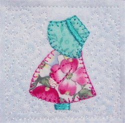 Mini Sun Bonnet Sue embroidery design