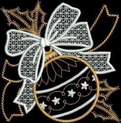 Metallic Bulb Ornament embroidery design