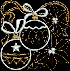 Metallic Decorative Ornaments embroidery design